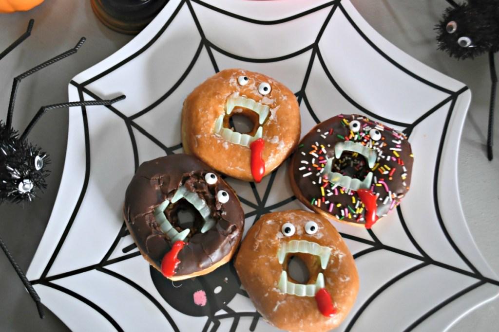 vampire donuts on display